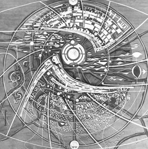 История Ауровиля: Макроструктурная модель 1967г.