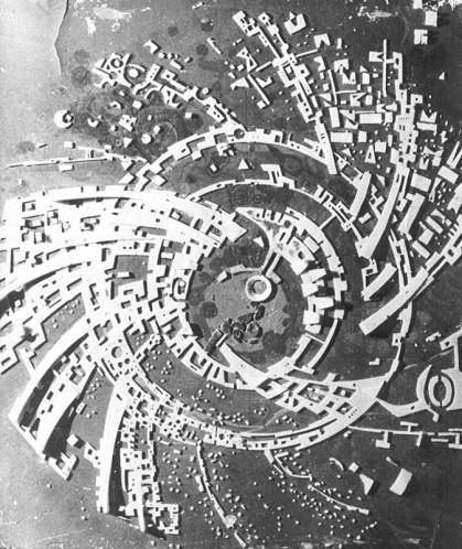 История Ауровиля: Предварительная модель «Галактики», конец 1967г.